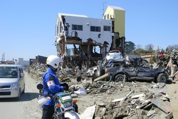 SCOUT Motorcycle Offroad Emergency Response Team Japan Disaster Prevention Earthquake Flood Vulcano